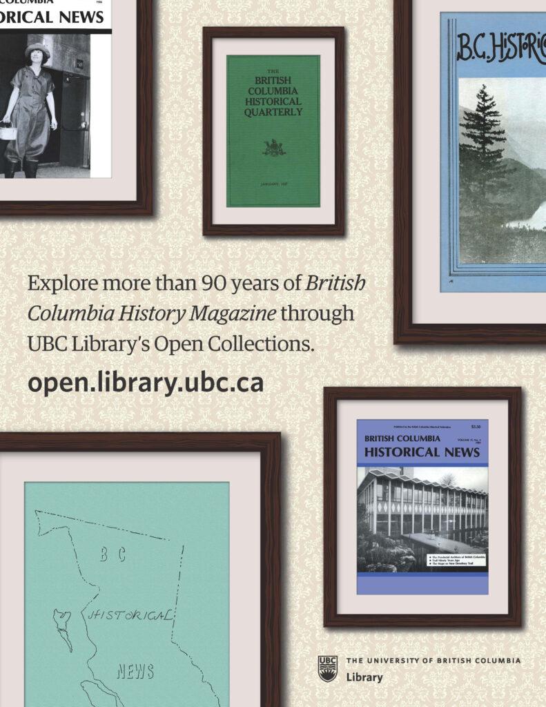 British Columbia History Magazine Full Page Ad